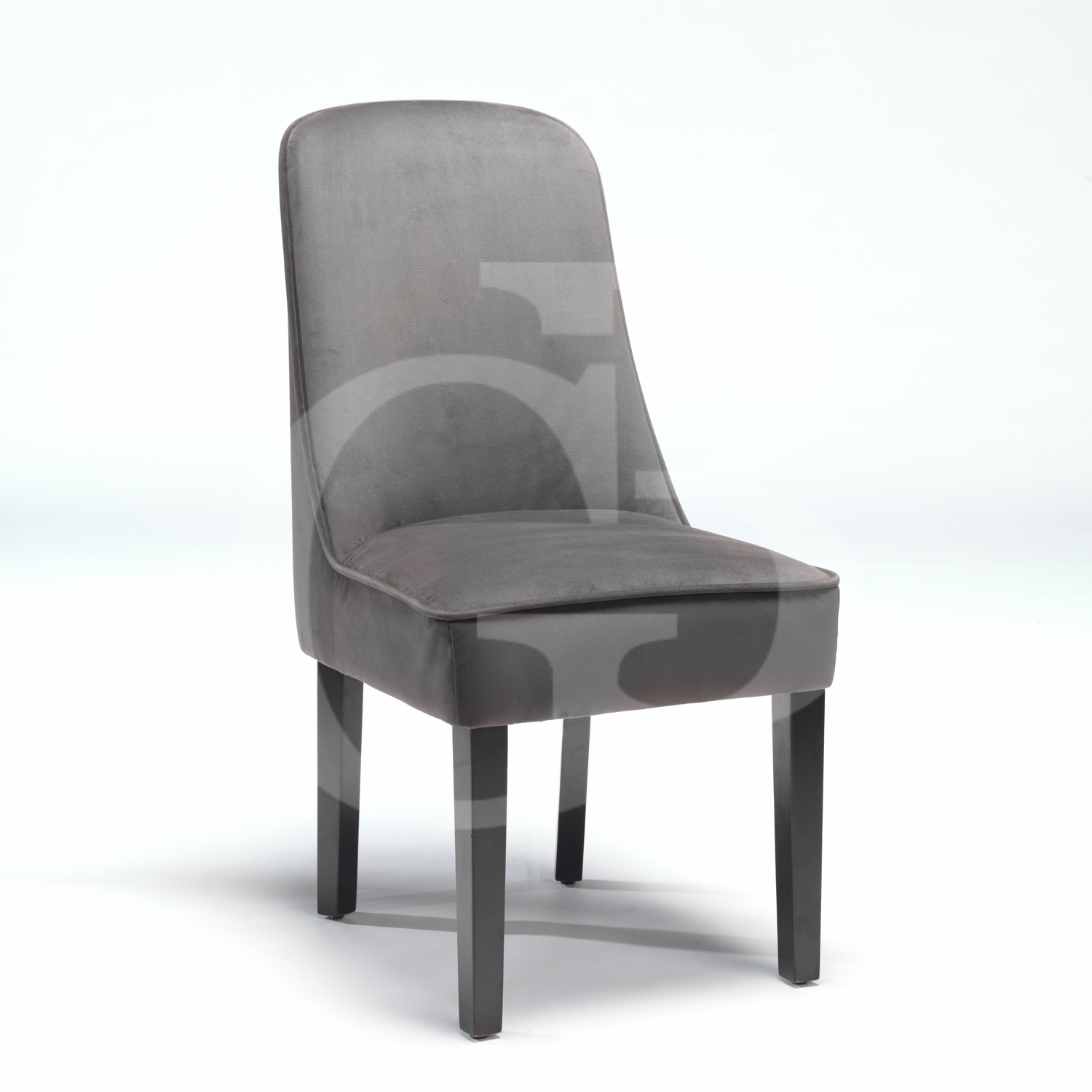 New Upholstered Dining Chair In Dark Grey Velour Fabric  : productimage1151013161725 from www.ebay.co.uk size 1500 x 1500 jpeg 420kB