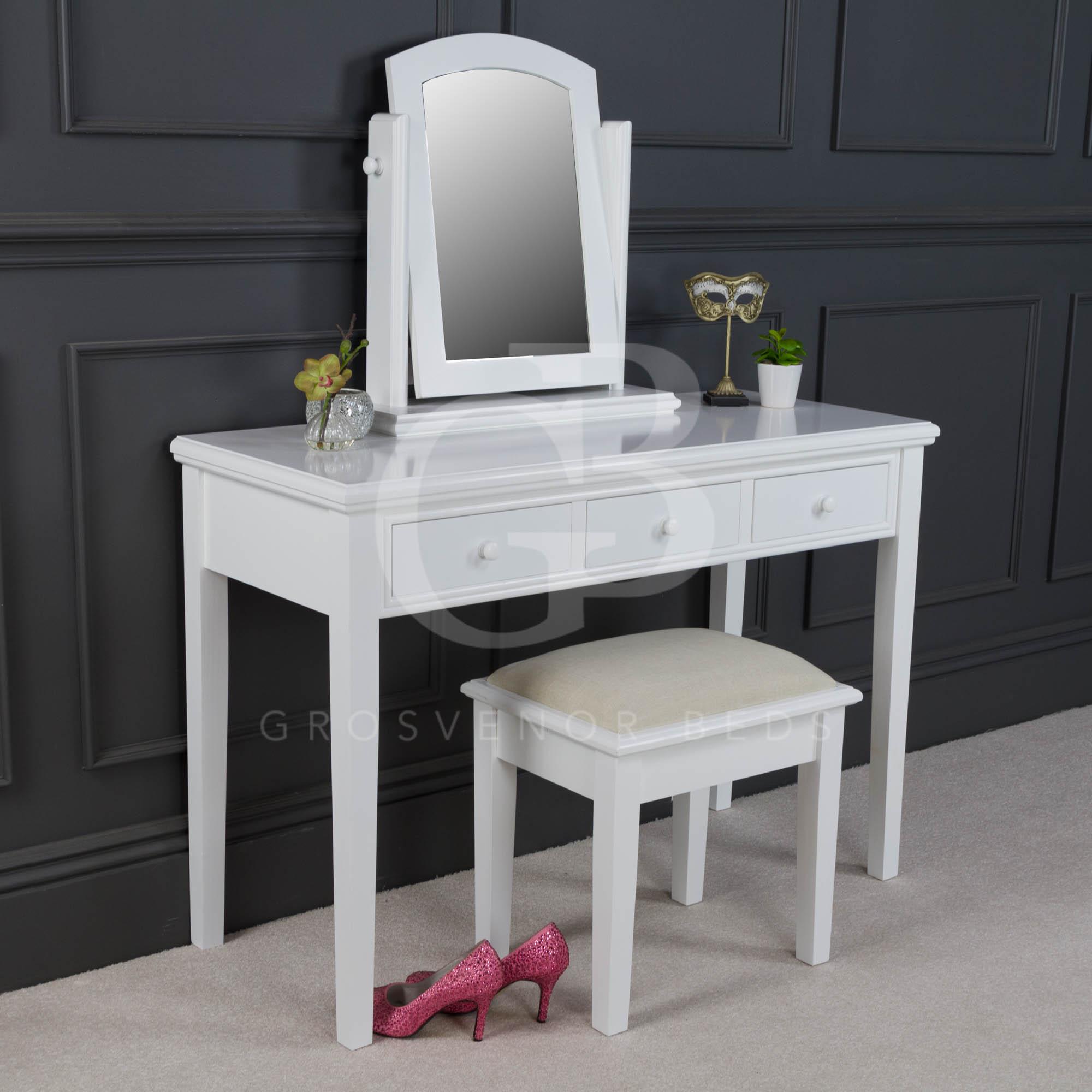 New painted white georgian dressing table set dressing for Womens dressing table