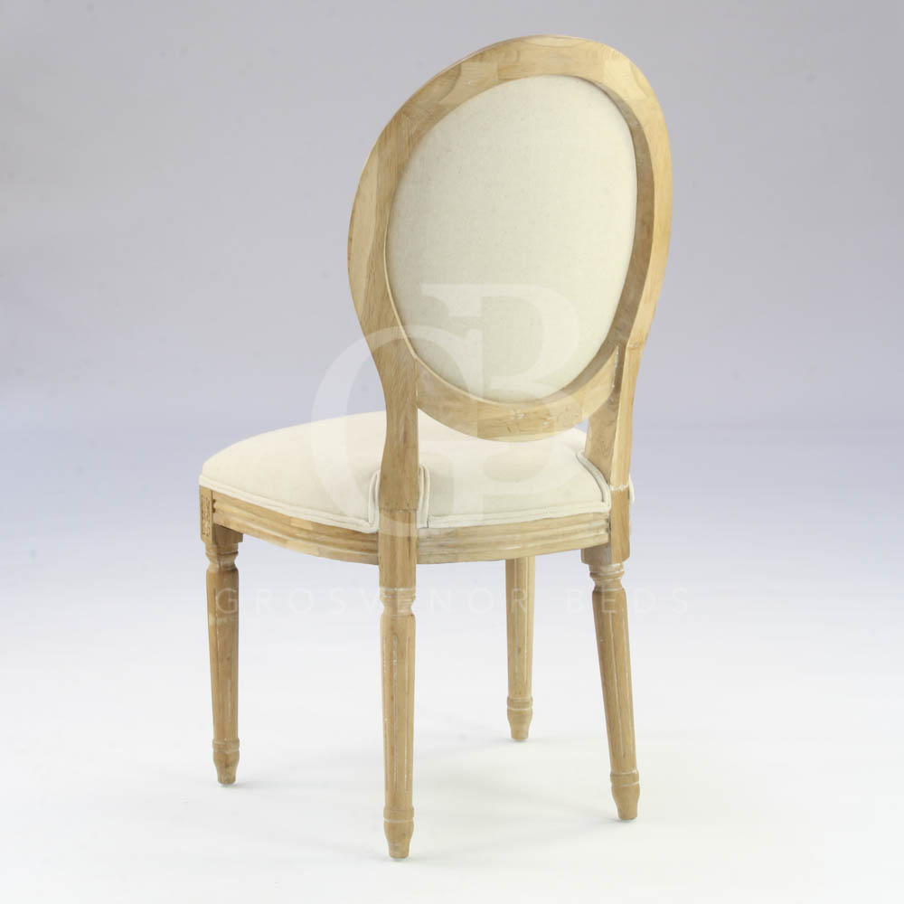 French Kitchen Chairs: French Style Limed Oak Upholstered Dining Chairs