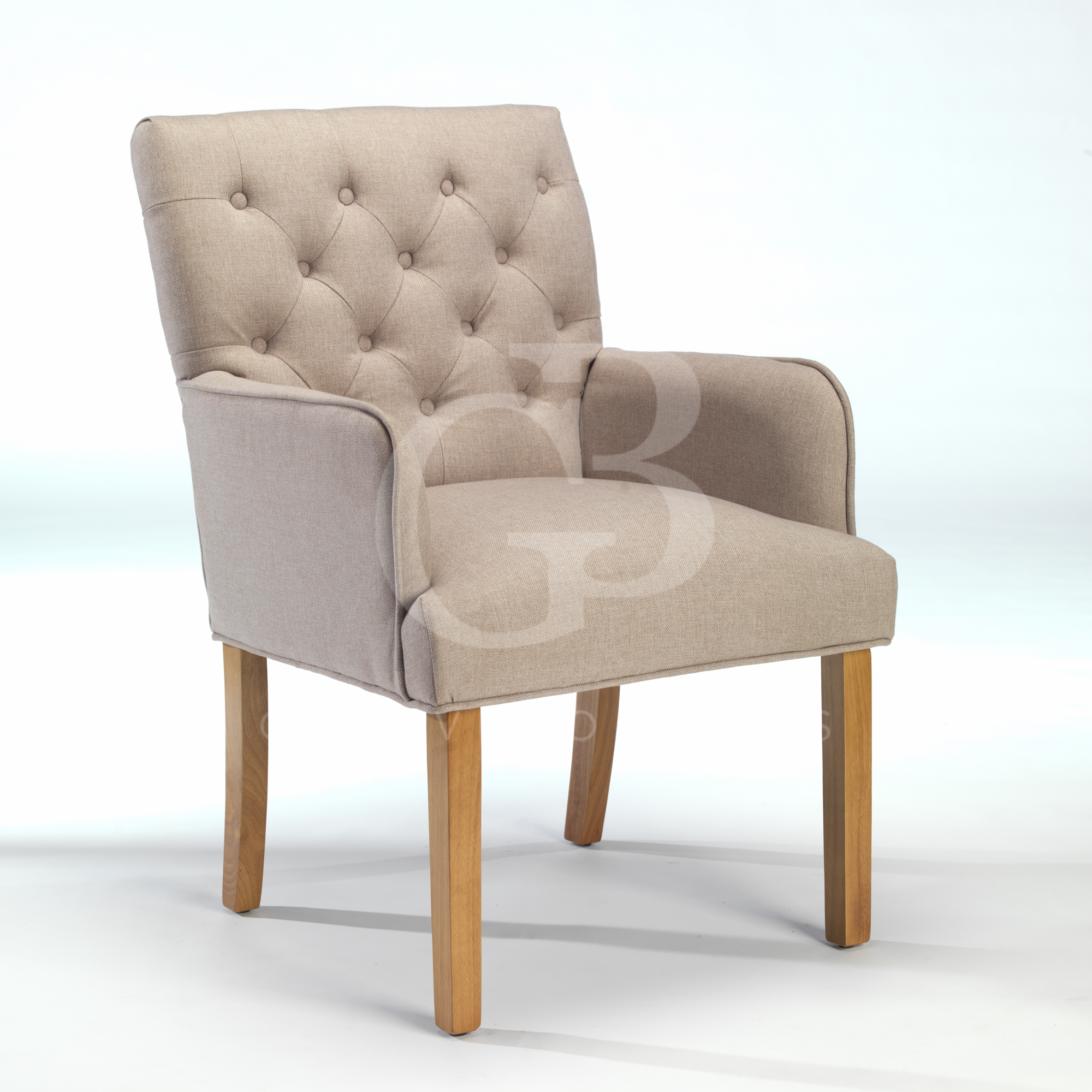 New Upholstered Buttoned Back Dining Chair