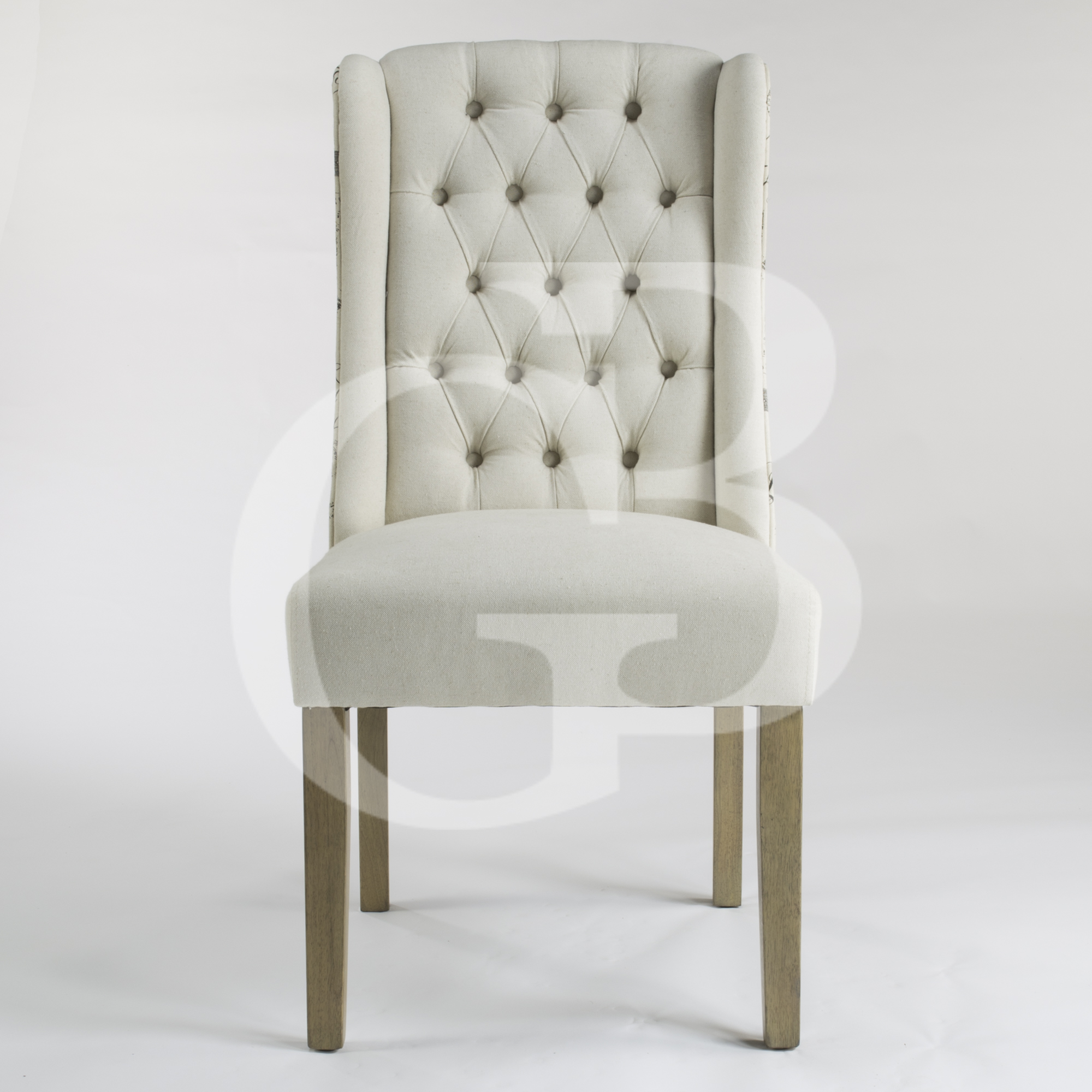 eGB75 S New Henley Script Upholstered Linen Dining Chair