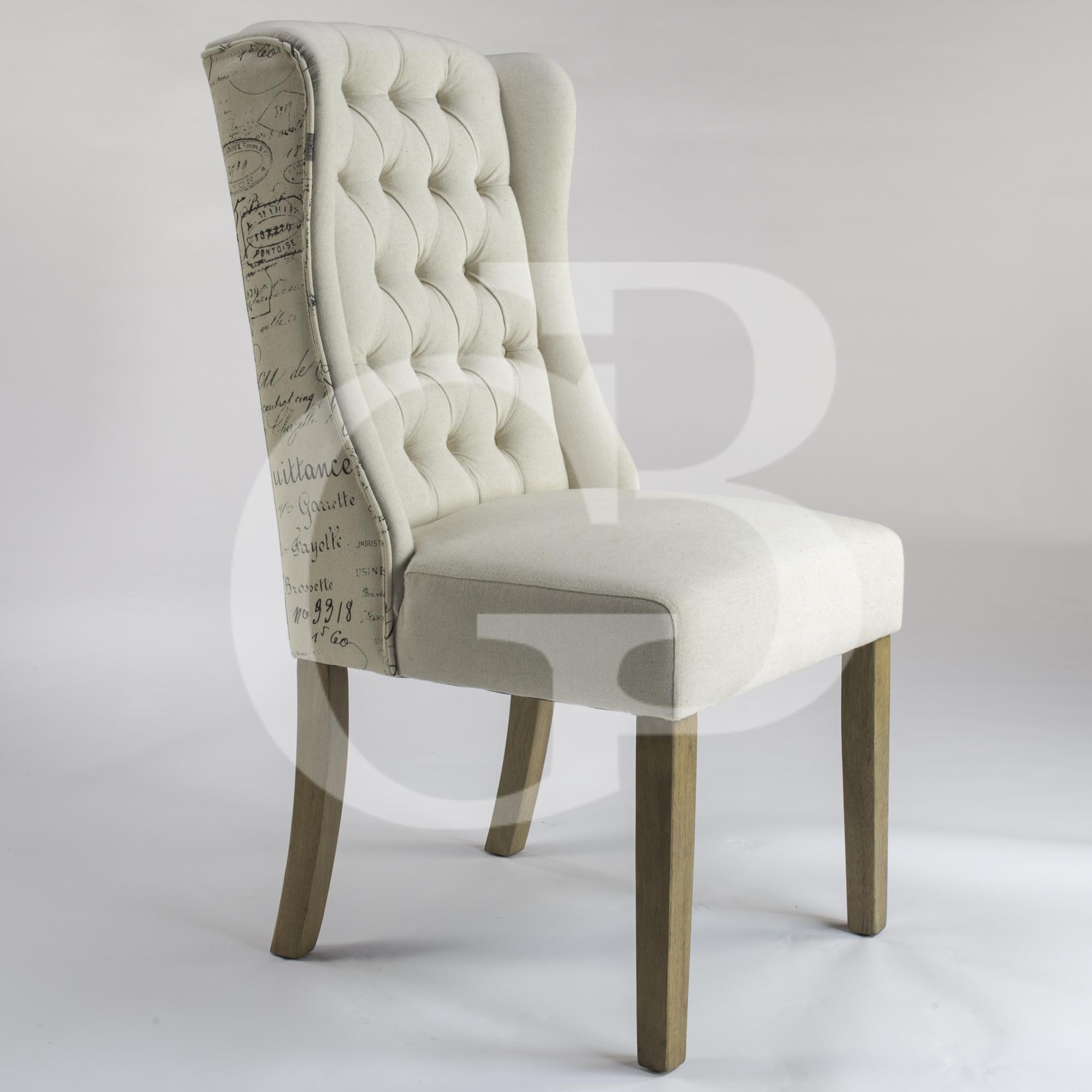 Egb75 s new henley script upholstered linen dining chair for Upholstered linen dining chairs