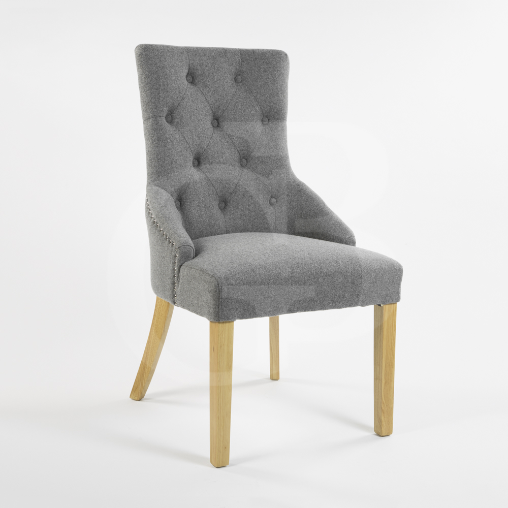 Egb80 wl new wool ascot lions head dining chair ebay for Dining room head chairs