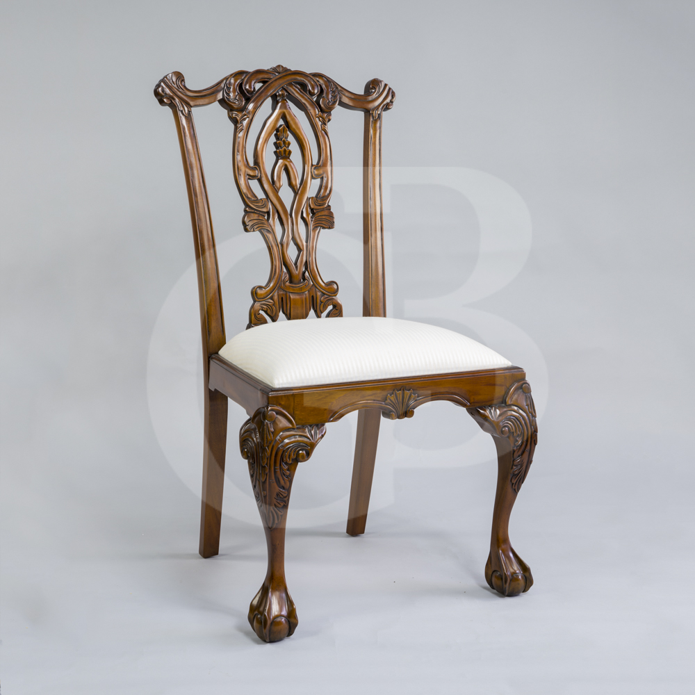 Chippendale Mahogany Dining Room Chairs: Four New Solid Mahogany Chippendale Style Dining Chairs