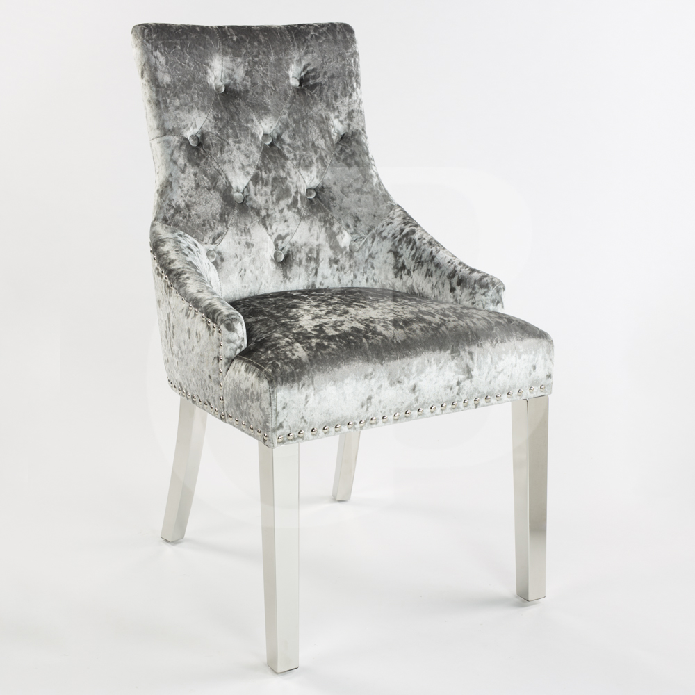 New Chelsea Silver Crushed Velvet Scoop Dining Chair with  : productimage117512125532 from www.ebay.co.uk size 1000 x 1000 jpeg 354kB